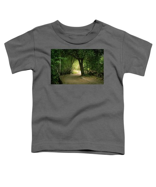 Toddler T-Shirt featuring the photograph Light Through The Tree Tunnel by Alison Frank