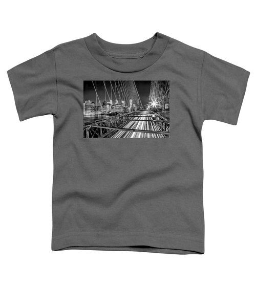 Light Trails Of Manhattan Toddler T-Shirt by Az Jackson