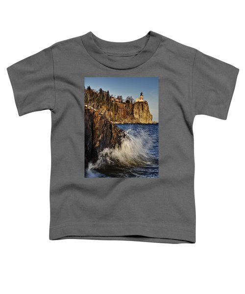 Lighthouse And Spray Toddler T-Shirt