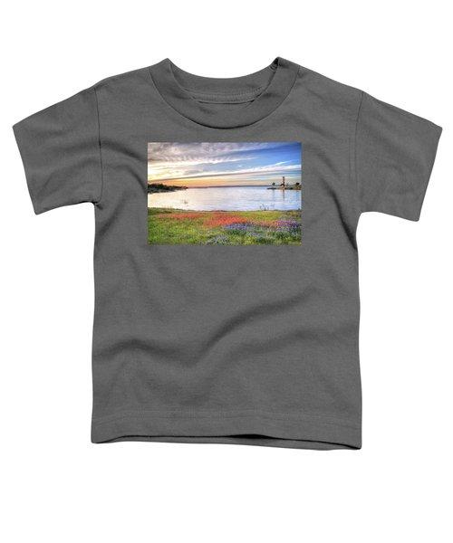 Lighthouse Sunset At Lake Buchanan Toddler T-Shirt