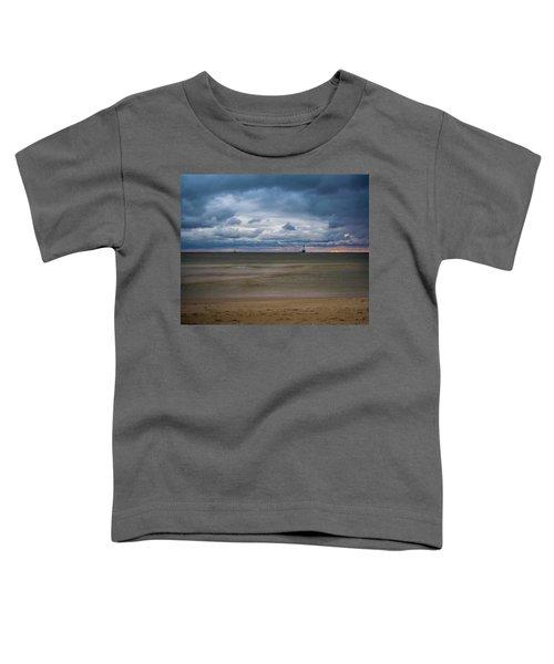 Lighthouse Under Brewing Clouds Toddler T-Shirt