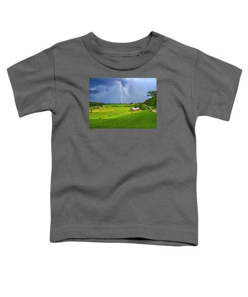 Lightning Storm Over Jenne Farm Toddler T-Shirt