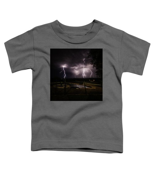 Toddler T-Shirt featuring the photograph Lightning Strikes by Chris Cousins