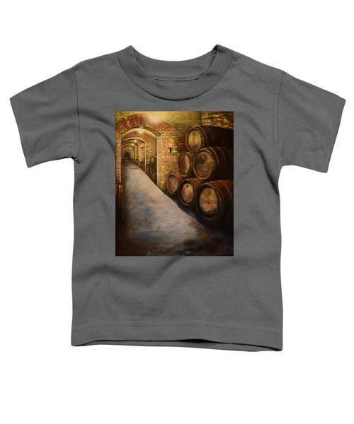 Lights In The Wine Cellar - Chateau Meichtry Vineyard Toddler T-Shirt