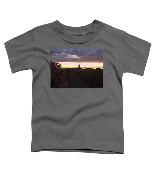 Lilacs At Portland Breakwater Light Toddler T-Shirt