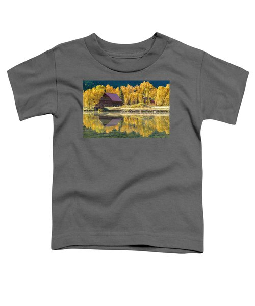 Little Barn By The Lake Toddler T-Shirt