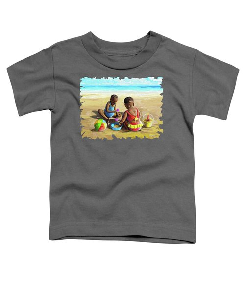 Little Girls At The Beach Toddler T-Shirt
