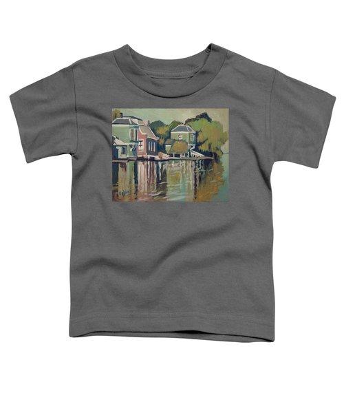 Lofts Along The River Zaan In Zaandam Toddler T-Shirt by Nop Briex