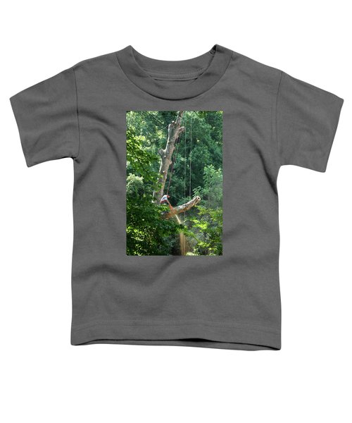 Logger Cutting Down Large, Tall Tree Toddler T-Shirt