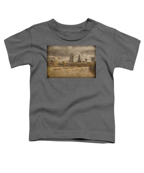 London, England - London Skyline East Toddler T-Shirt