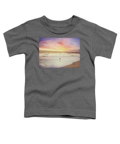 Lone Bird At Sunset Toddler T-Shirt