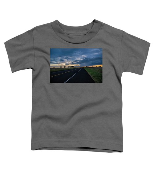 Lone Highway At Sunset Toddler T-Shirt