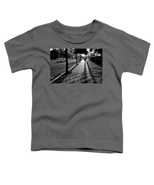 Lonely Man Walking At Dusk In Sao Paulo Toddler T-Shirt