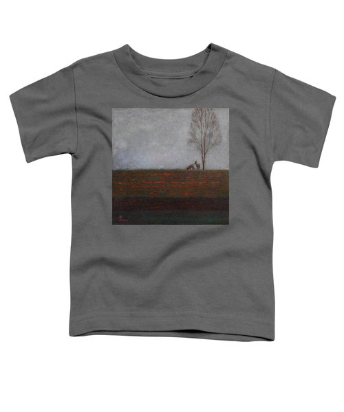 Lonely Tree With Two Roes Toddler T-Shirt