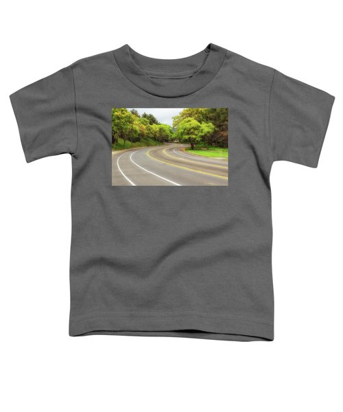 Toddler T-Shirt featuring the photograph Long And Winding Road by Alison Frank