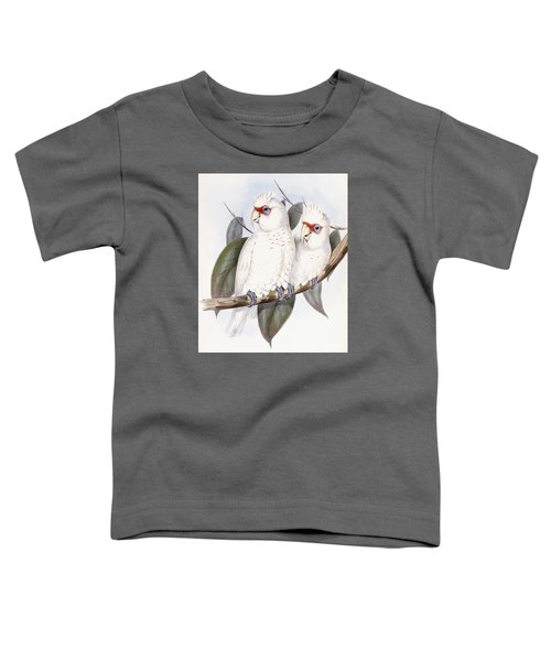 Long-billed Cockatoo Toddler T-Shirt by John Gould