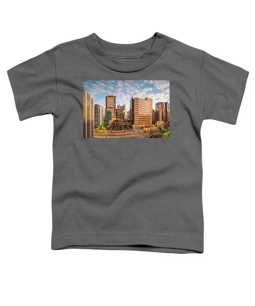 Long Exposure View Of The Texas Medical Center Houston Harris County - Southeast Texas Toddler T-Shirt