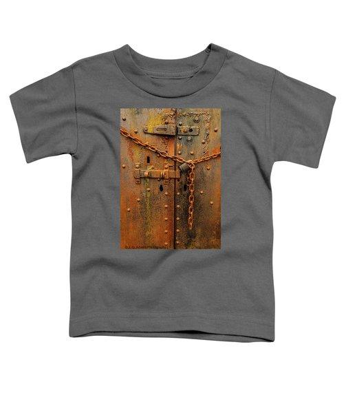 Long Locked Iron Door Toddler T-Shirt