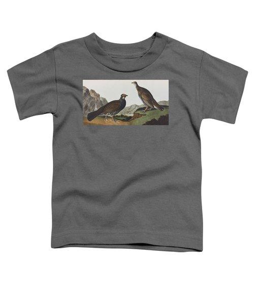 Long-tailed Or Dusky Grous Toddler T-Shirt by John James Audubon