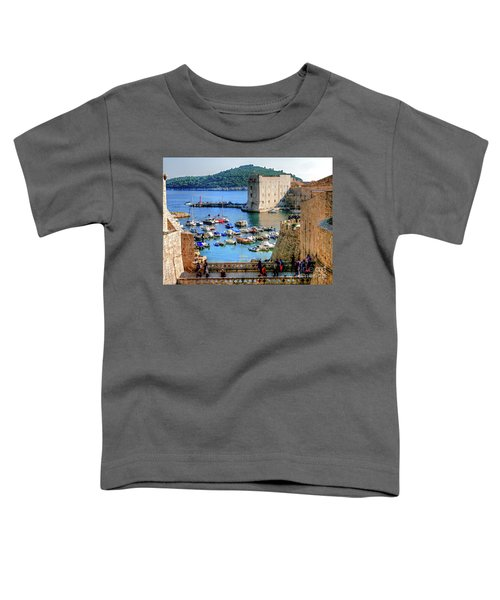 Looking Out Onto Dubrovnik Harbour Toddler T-Shirt