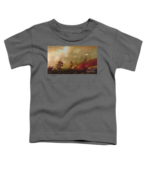 Lord Howe And The Comte Destaing Off Rhode Island Toddler T-Shirt