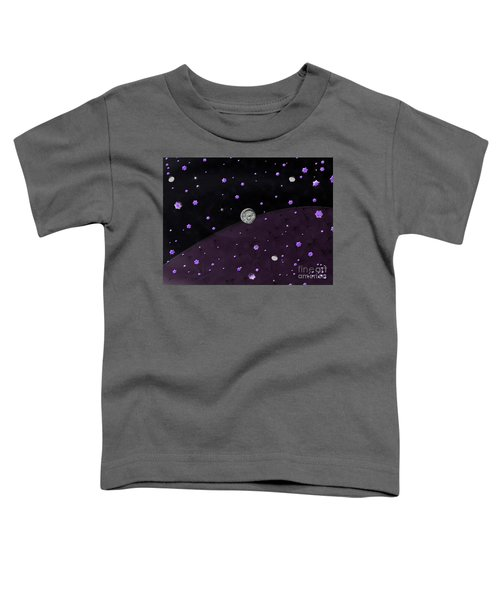 Lost In Midnight Charcoal Stars Toddler T-Shirt
