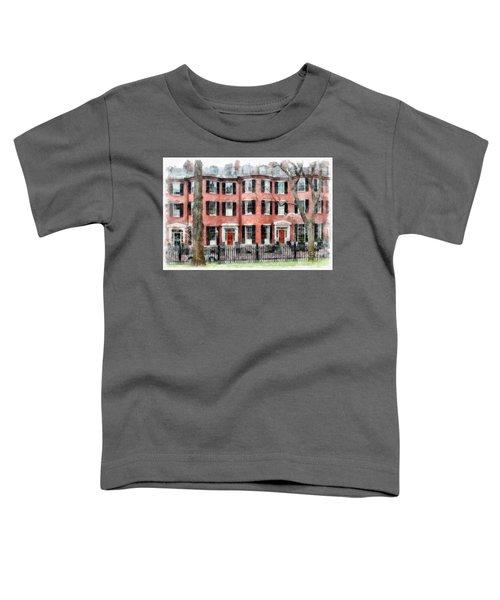 Louisburg Square Beacon Hill Boston Toddler T-Shirt