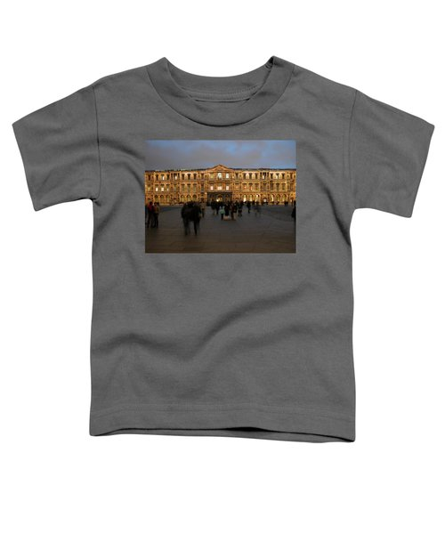 Toddler T-Shirt featuring the photograph Louvre Palace, Cour Carree by Mark Czerniec