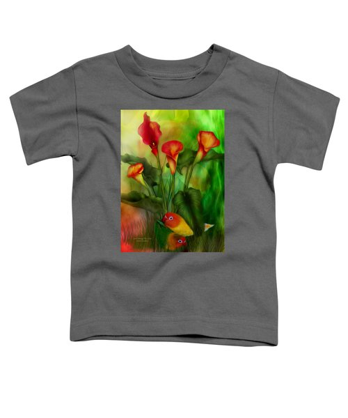 Love Among The Lilies  Toddler T-Shirt