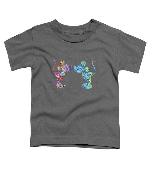 Love Celebration- Colorful Watercolor Art Toddler T-Shirt by Mary Alhadif
