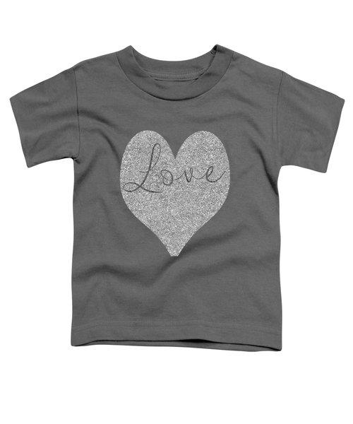 Love Heart Glitter Toddler T-Shirt