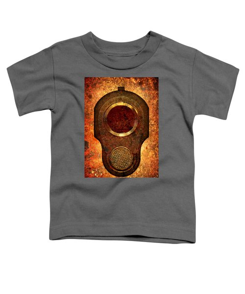 M1911 Muzzle On Rusted Background Toddler T-Shirt
