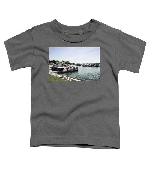 Mackinac Marina Art Toddler T-Shirt