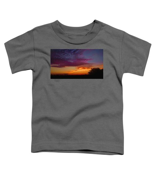 Magenta Morning Sky Toddler T-Shirt