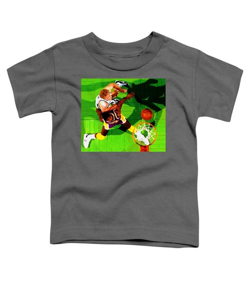 Magic And Bird Toddler T-Shirt by Brian Reaves