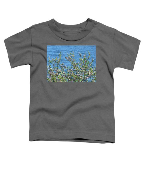 Magnolia Flowering Tree Blue Water Toddler T-Shirt