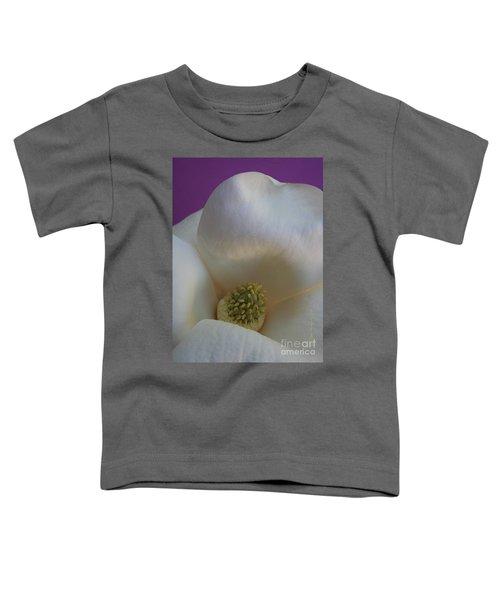 Magnolia Macro Against Purple Toddler T-Shirt