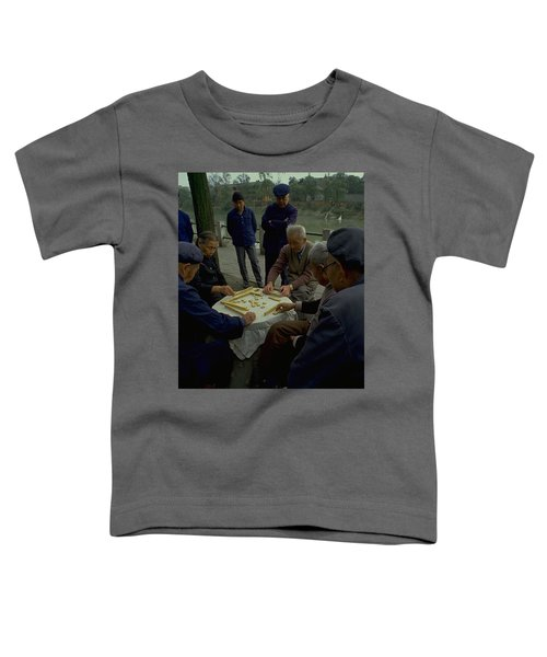 Toddler T-Shirt featuring the photograph Mahjong In Guangzhou by Travel Pics