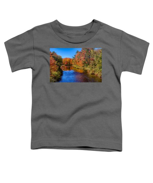 Maine Brook In Afternoon With Fall Color Reflection Toddler T-Shirt