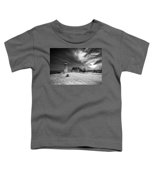Maine Coastal Storm Over Pemaquid Lighthouse Toddler T-Shirt