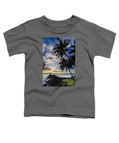 Makena Maui Hawaii Sunset Toddler T-Shirt