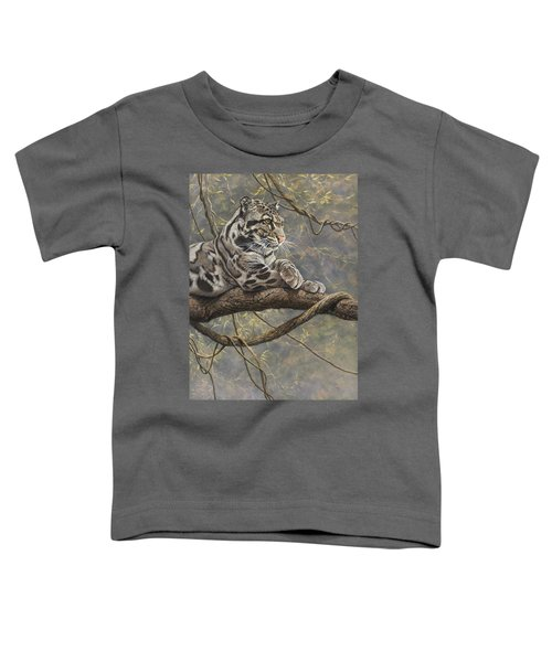 Male Clouded Leopard Toddler T-Shirt