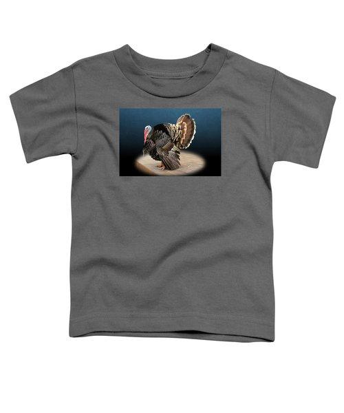 Male Turkey Strutting Toddler T-Shirt