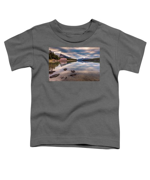 Maligne Lake Boat House Sunrise Toddler T-Shirt