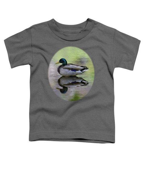 Mallard In Mountain Water Toddler T-Shirt