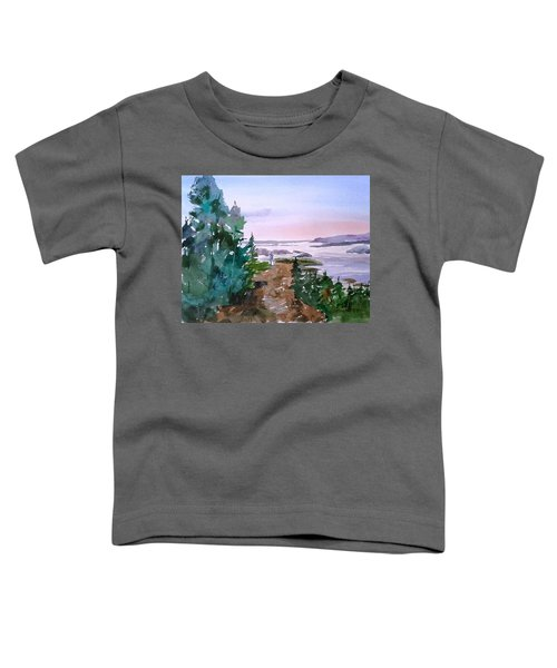 Man At Fraser Lake Bc Toddler T-Shirt