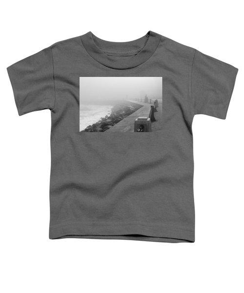 Man Waiting In Fog Toddler T-Shirt