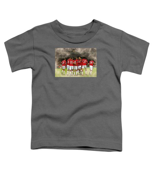 Manchester United  In Action  Toddler T-Shirt by Don Kuing
