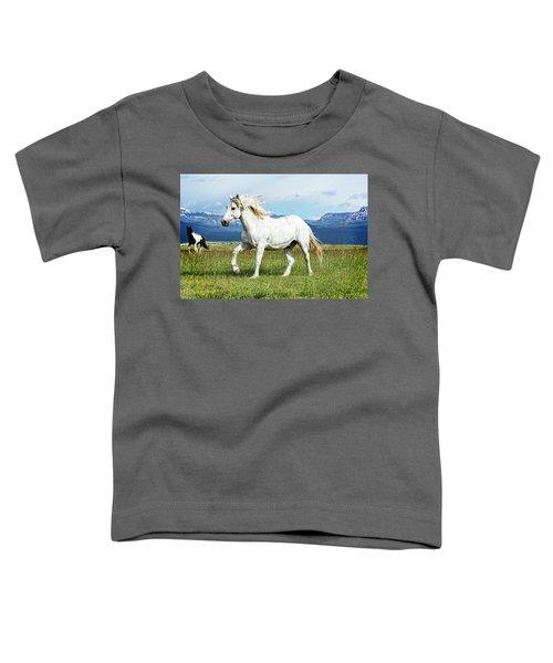Mane And Feet Flying  Toddler T-Shirt