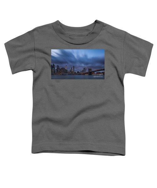 Manhattan And Brooklyn Bridge Toddler T-Shirt